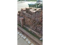 Clay and concrete peg roof tiles