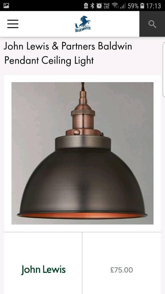 f150111d95da Brand New Pair of John Lewis Barrington Ceiling Pendant lights | in ...