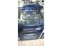 ZANUSSI black 60Cm Gas Cooker in new Ex Display