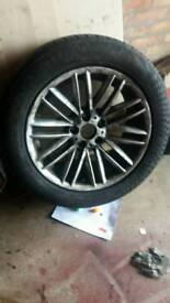 2 tyres on rims .size in pic