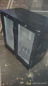 Glass fronted pub style beer fridge
