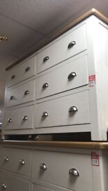 6 drawer sideboard - white/oak