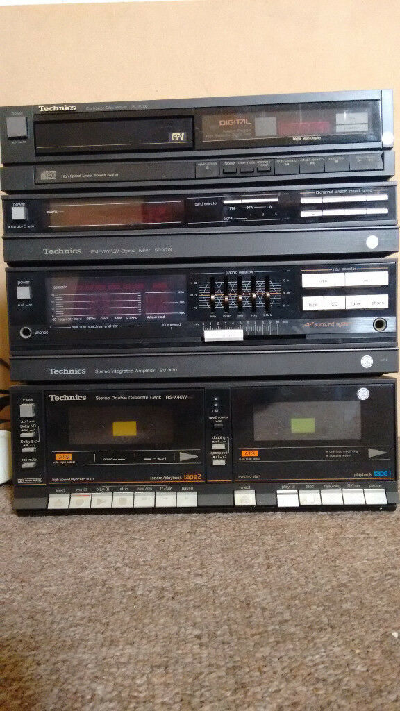 Technics stereo system, SU-X70 Amplifier with matching, tuner, CD and  cassette players and speakers | in Ringwood, Hampshire | Gumtree