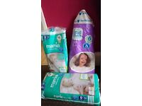 Mamia Ultra Dry 5+ size and Little Ones 6 size nappies