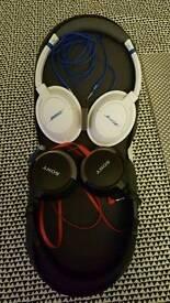 Bose and Sony headphones