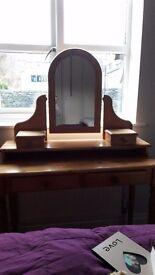 Solid Pine Bedroom Furniture (Five Pieces)