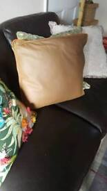 7 x Leather Cushions