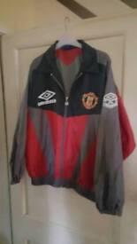Retro Man United SHARP Umbro jacket. Large.