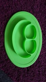 Silicone weaning plate