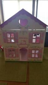 Hello Kitty wooden play house