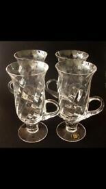 Dartington Ripple Irish coffee glasses