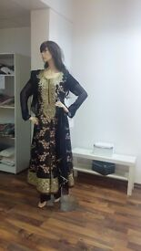 Dark blue party dress of Lodhi's