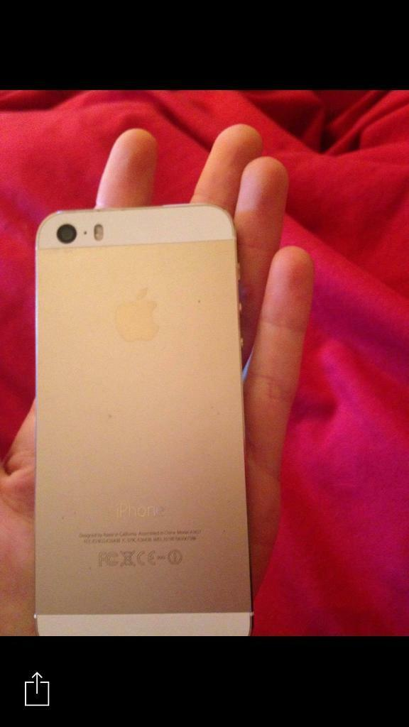 iPhone 5s white and goldin Rushden, NorthamptonshireGumtree - iPhone 5s white and gold, perfect condition, finger print unlock all still working perfect, no scratches, had it a case the whole time, comes with a box and charger