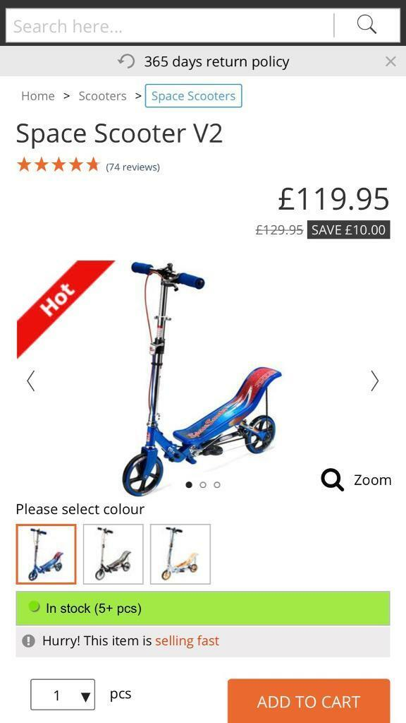 Space scooter | in Chesterfield, Derbyshire | Gumtree