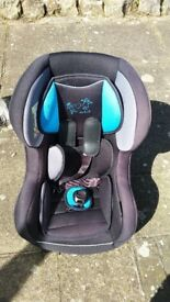 Car Seat for Kids black/blue 0 to 25 kg