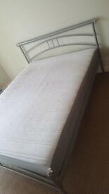 I have a double bed for sale below I present photos of a mattress bought a year ago I have a receipt