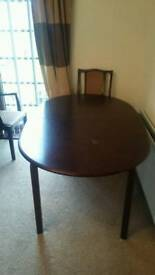 """Mahogany extendable dining table 57"""" x 37"""" extending to74"""" x 37"""""""