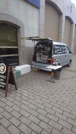 Coffee Van with full equipment and stock for sale a business ready to go!