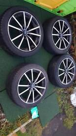 17 inch fox alloys+ tyres