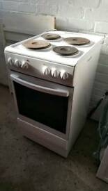 White electric oven cooker