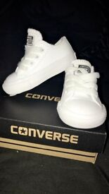 Size 3 infant all white converse