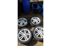"""Seat Leon FR 18"""" Genuine Alloy Wheels with Tyres"""