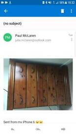 Dark pine bedroom furniture