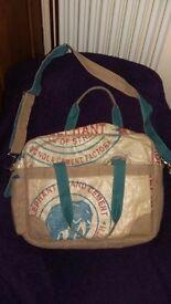Fun recycled laptop bag
