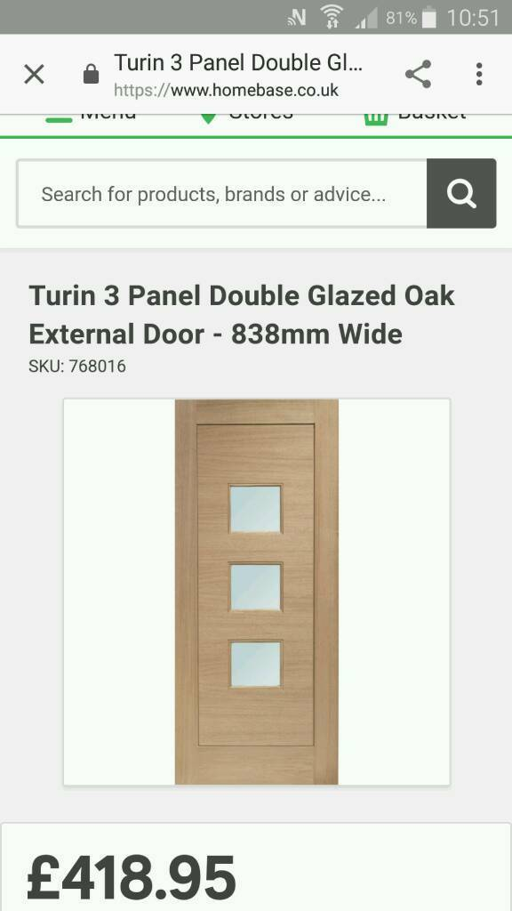 "Solid oak door 32"" x 80"""