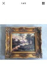 Antique style oil painting by Williams