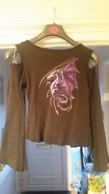 Ladies Spiral Direct Dragon t shirt (medium)
