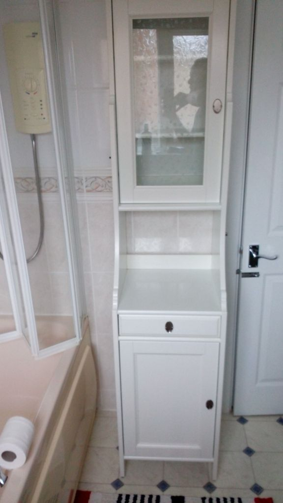 bathroom cabinet ikea flaren with glass door in yeovil