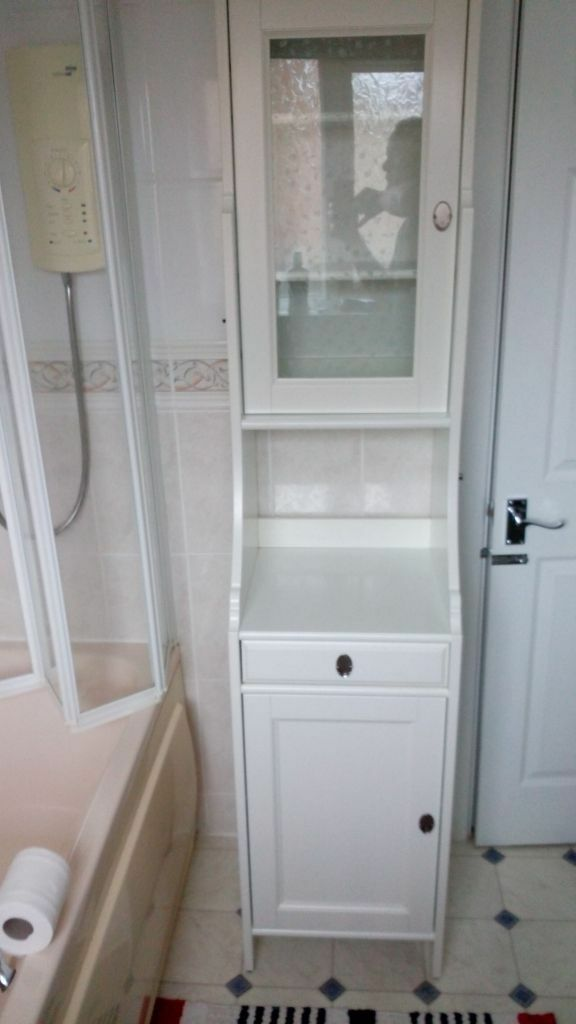 Bathroom cabinet ikea flaren with glass door in yeovil for Bathroom cabinets gumtree
