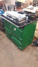 Rayburn OF7/208K oil fired cooker in Hunter Green