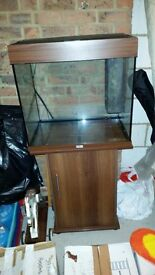 tropical fish tank and stand 60cm x 58cm x 41cm