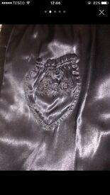 Vintage mink black coat