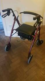 Mobility aid with seat