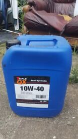 20 Litre of 10W-40 Triple QX Semi Synthetic Oil - £15 - Greenford