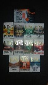 12 Stephen King books collection (LIKE NEW)