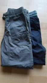 2prs M & S Brand new Canvas trousers 11-12
