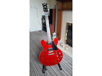 Burny 335 style Electric Guitar with Case.
