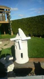 Large concrete windmill garden ornament