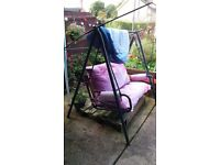 Metal swing lounger