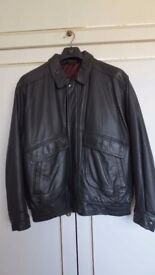 M&S Soft Leather Bomber Jacket