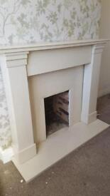 Solid marble fire surround SOLD