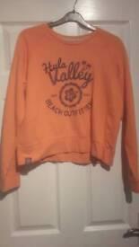Pink Hula Valley womens jumper/sweatshirt- nearly new. Size 12