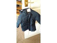 blue 6/9months boys coat excellent condition