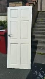 """Door internal white hardwood 30""""x78"""""""