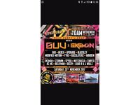 Innovation in the Dam Fri/Sat tickets x3 plus boat party tickets x3