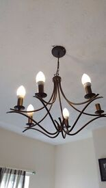 John Lewis lighting iron chandelier
